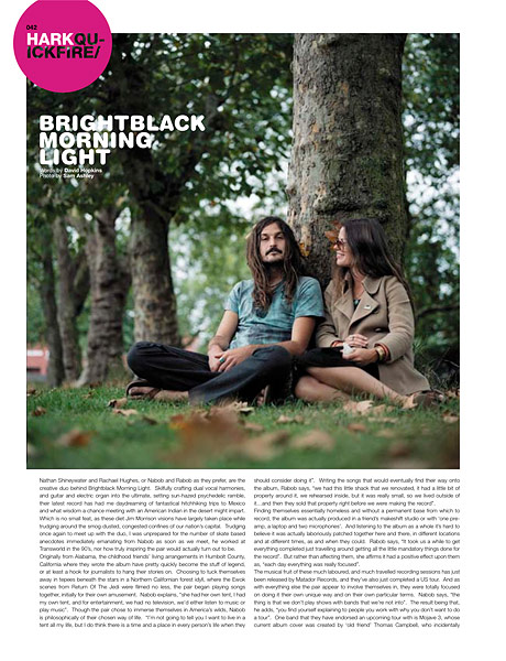 Brightblack Morning Light, Document Magazine<br />