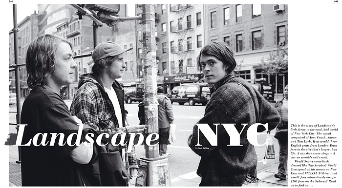 Landscape in NYC, Document Magazine