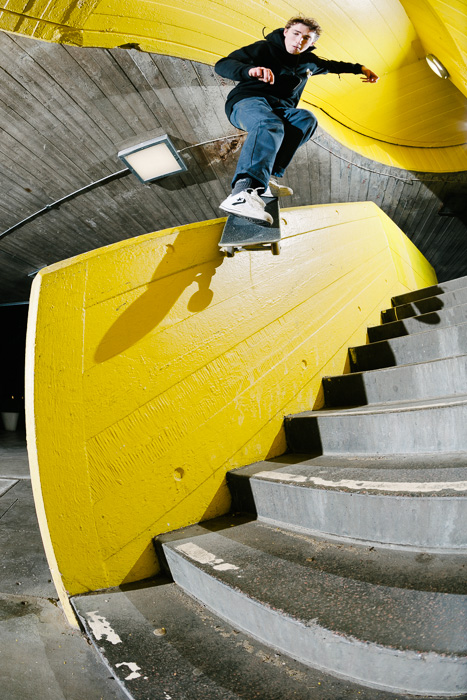 Rory Milanes, backside smith grind, Southbank.