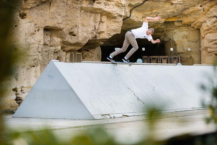 Jerome Campbell, backside tailslide, Cyprus