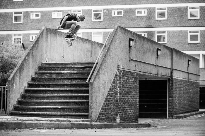 Lucien Clarke, nollie flip, Shoreditch.